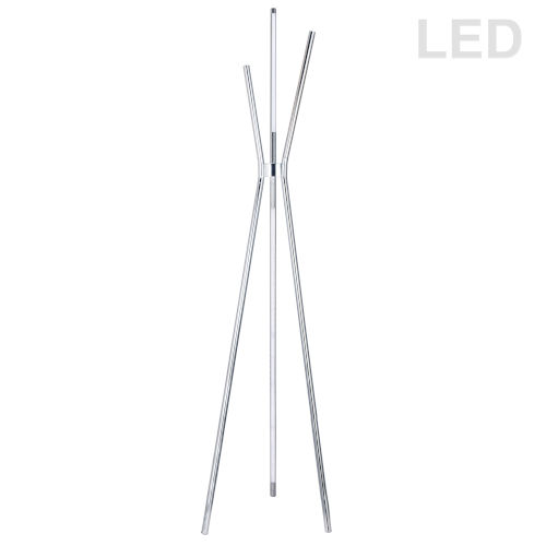 Cerena Polished Chrome Four-Light LED Floor Lamp
