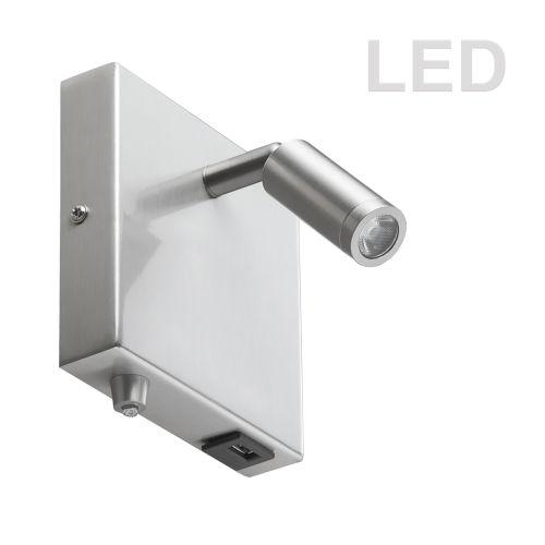 Satin Chrome LED Wall Sconce