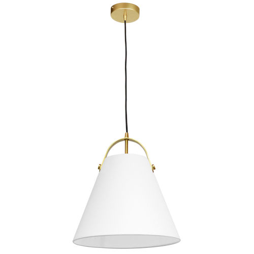 Emperor Aged Brass One-Light Pendant with White Shade
