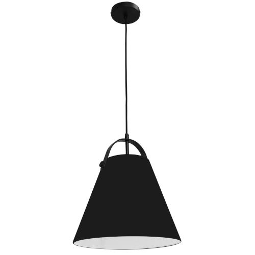 Emperor Matte Black One-Light Pendant with Black Shade