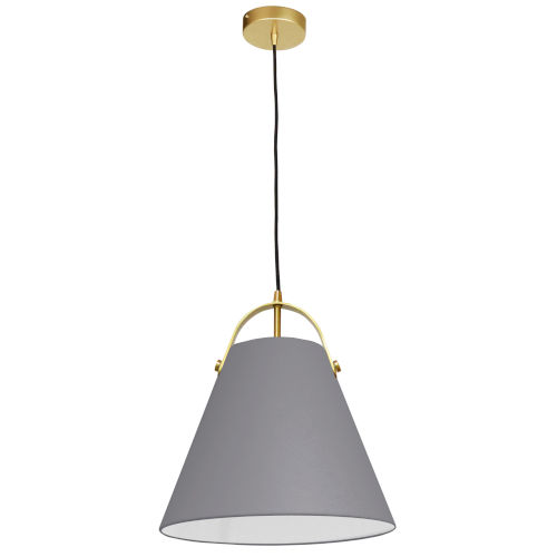 Emperor Aged Brass One-Light Pendant with Gray Shade