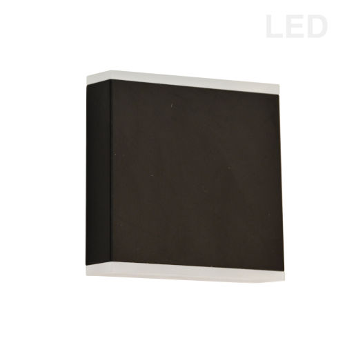 Emery Matte Black Two-Light LED Wall Sconce