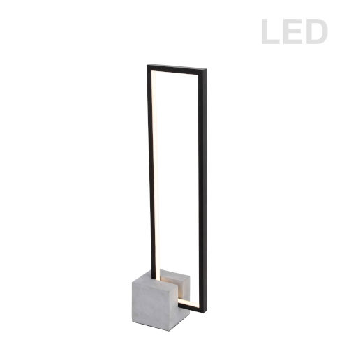Florence Matte Black with Gray LED Table Lamp