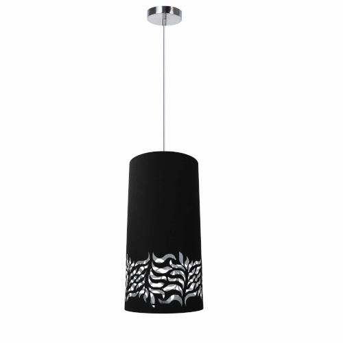 Glora Black Silver One-Light Mini Pendant
