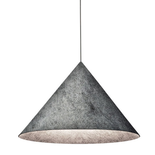 Jessica Gray and Black 20-Inch One-Light Pendant