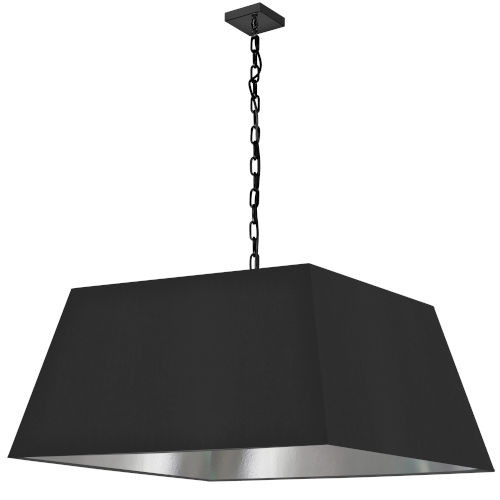 Milano Black and Silver One-Light XL Pendant
