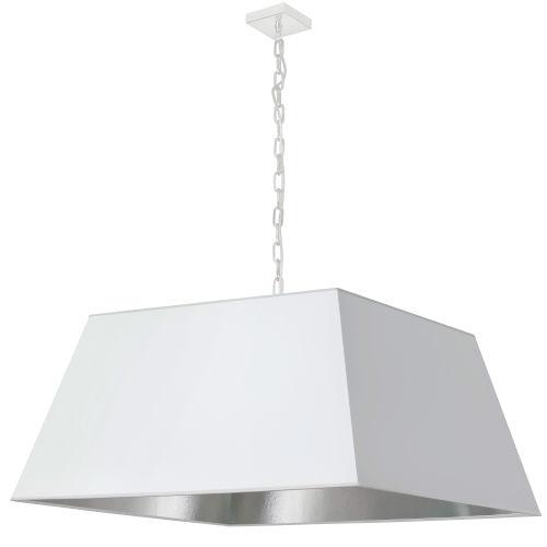 Milano White and Polished Chrome One-Light XL Pendant