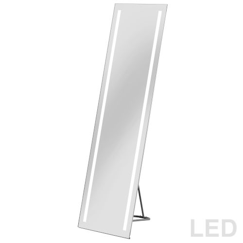 Silver Two-Light LED Vanity Mirror
