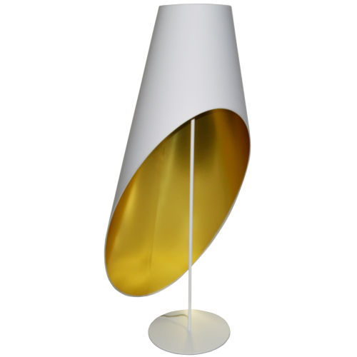 White Gold Three-Light Floor Lamp