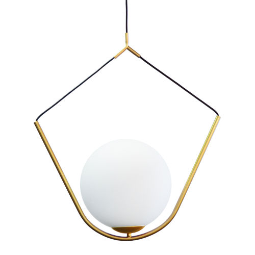 Orion Aged Brass with Opal One-Light Pendant