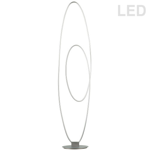 Phoenix Silver LED Floor Lamp
