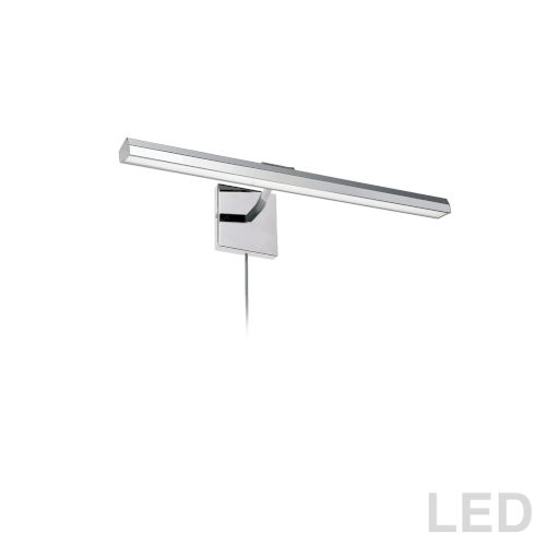 Leonardo Polished Chrome Three-Light LED Picture Light