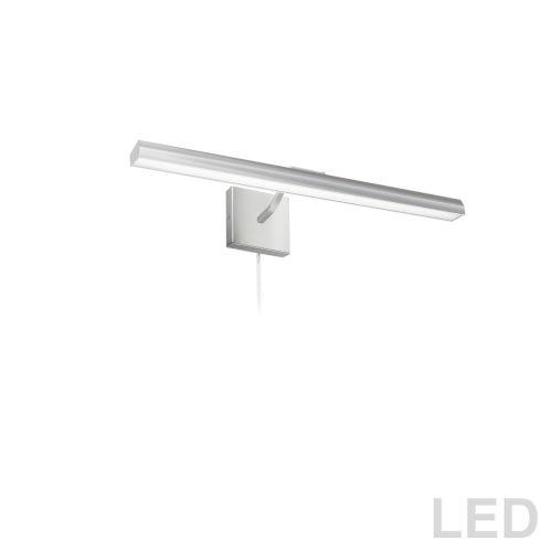 Leonardo Satin Chrome Three-Light LED Picture Light
