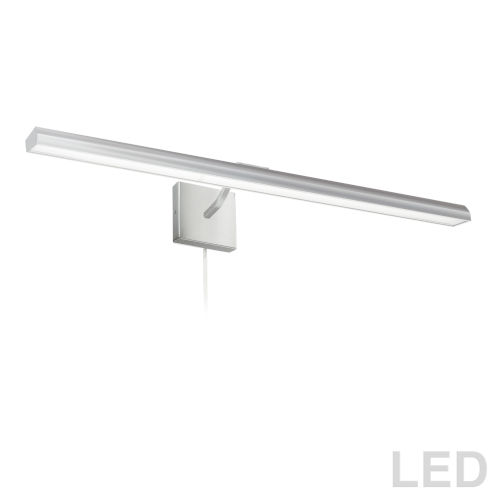 Leonardo Satin Chrome Four-Light LED Picture Light