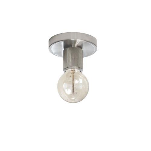 Roswell Satin Chrome Five-Inch One-Light Flush Mount
