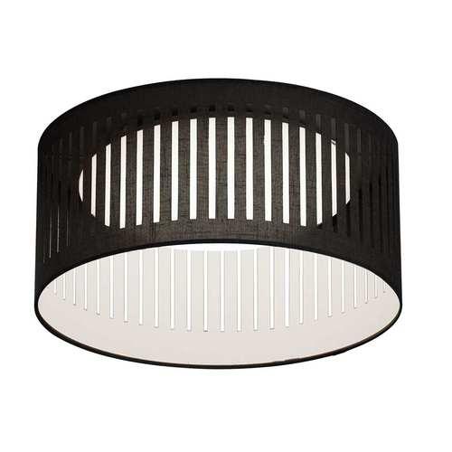 Black with White LED Flush Mount