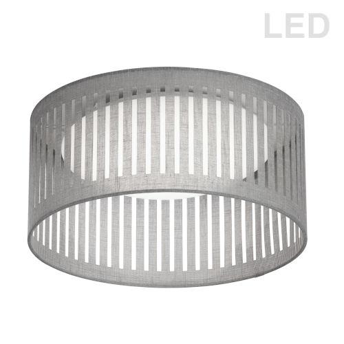 Gray with White LED Flush Mount