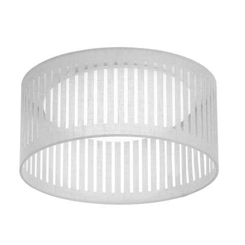 White 15-Inch LED Flush Mount