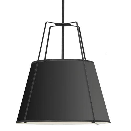 Trapezoid Black 30-Inch Four-Light Pendant