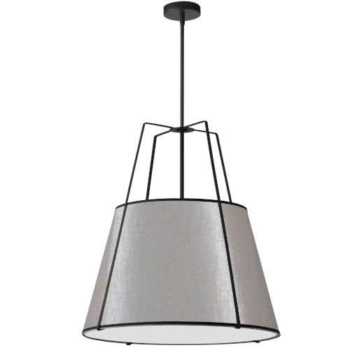 Trapezoid Black with Grey Three-Light Pendant