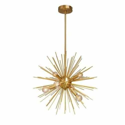 Vega Gold Six-Light Pendant