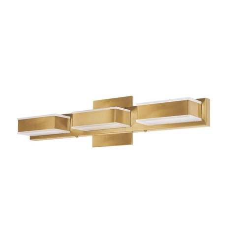 Gold Three-Light LED Bath Vanity