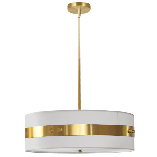 Willshire White with Aged Brass One-Light Pendant
