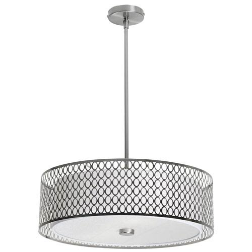 Dainolite Dinette Three Light Pendant with Laser Cut Shade and Glass Diffuser