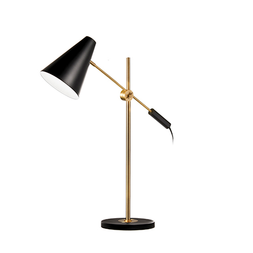 Dainolite Black and Vintage Bronze 23-Inch One-Light Table Lamp