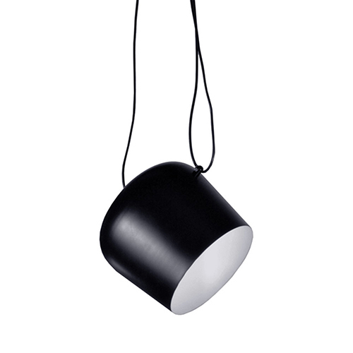 Dainolite Black 10-Inch One-Light Mini Pendant