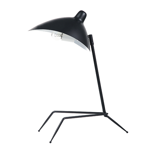 Matte Black 10-Inch One-Light Table Lamp