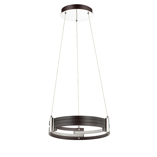 Dainolite Pono Matte Black 15-Inch LED Pendant