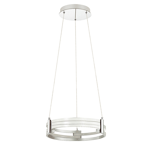 Pono Matte White 15-Inch LED Pendant