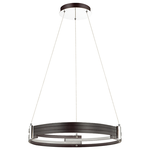 Pono Matte Black 24-Inch LED Pendant