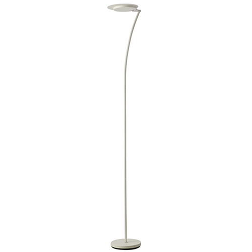 LED Matte White 11-Inch LED Floor Lamp
