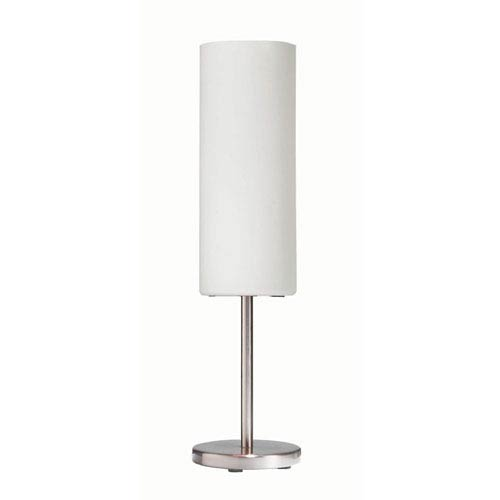 Dainolite Satin Chrome Table Lamp with White Frosted Glass