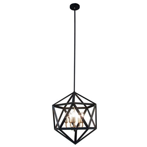 Archello Matte Black Twenty-Light  18-Inch Pendant