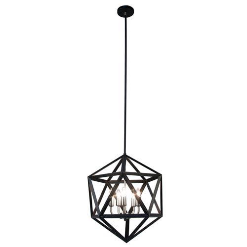 Archello Matte Black Five-Light  18-Inch Pendant
