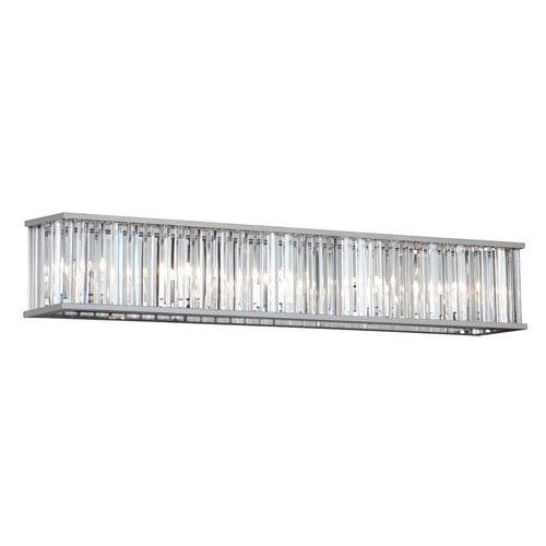 Aruba Polished Chrome Seven-Light Crystal Vanity