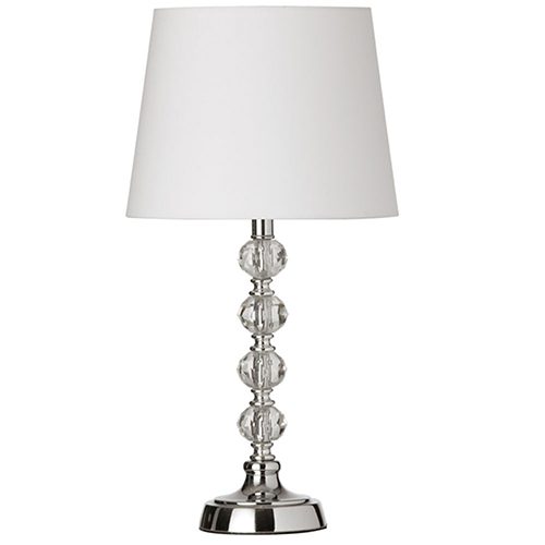 Dainolite Polished Chrome 9-Inch One-Light Table Lamp
