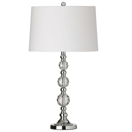 Dainolite Polished Chrome 16-Inch One-Light Table Lamp