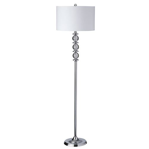 Polished Chrome 16-Inch One-Light Floor Lamp