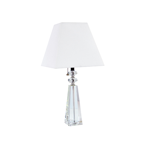 Clear 10-Inch One-Light Table Lamp