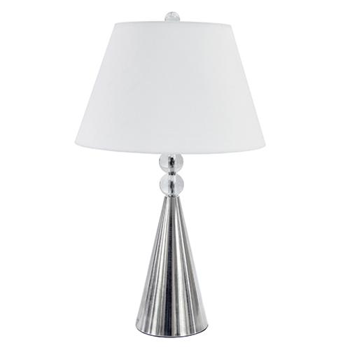 Satin Chrome 15-Inch One-Light Table Lamp