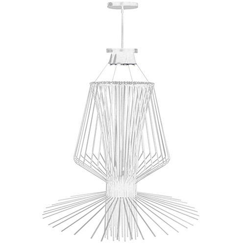 Dainolite Campana White Semi-Gloss 40-Inch Four-Light Pendant