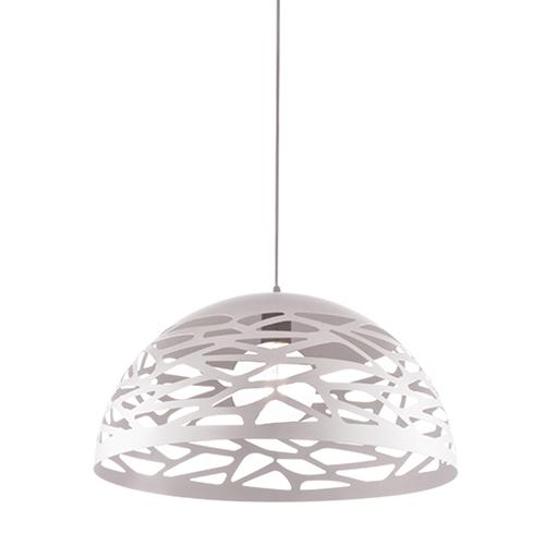 Coral Matte White 16-Inch One-Light Pendant