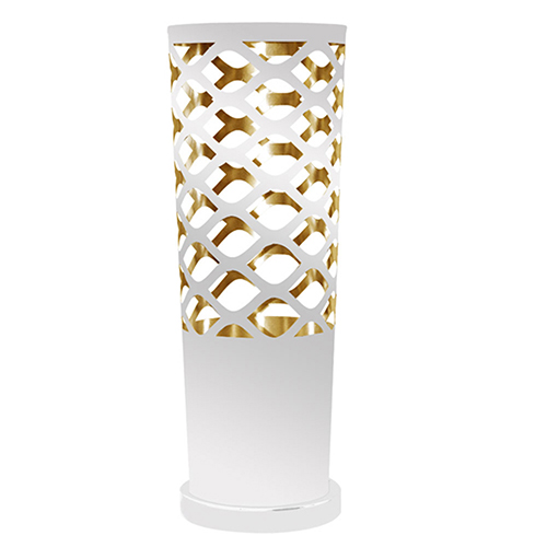 Cutouts White and Gold 8-Inch One-Light Table Lamp