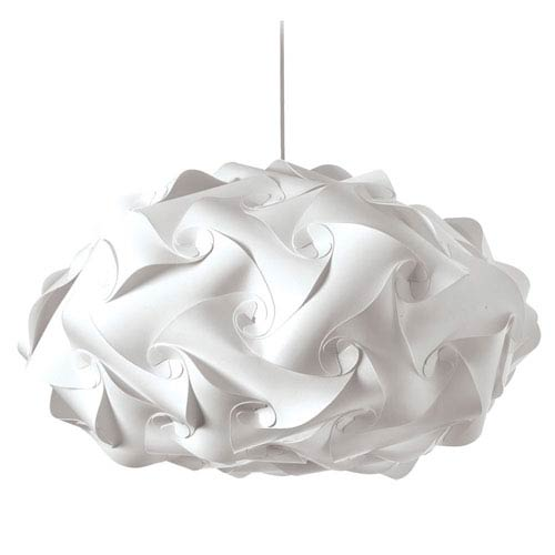 Dainolite Globus White Three-Light Squash Pendant