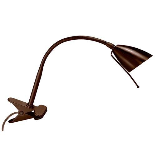 Dainolite Gooseneck Oil Brushed Bronze Clip On Lamp