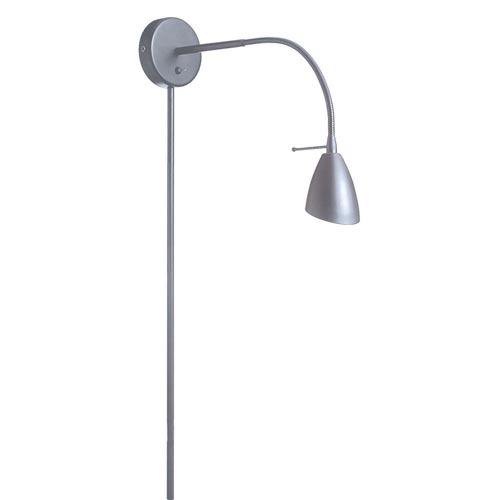 Satin Chrome One-Light Modern Plug-In Wall Lamp